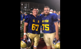 Kenny Pulley and Garrett Trosper participate in Lions Club project.