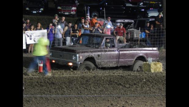 """Danny Fry from Braymer in his 1971 Chevy scored a 42' 2"""" run in the Super Stock Class."""