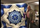 "George Hess of Chillicothe won ""Best of Show"" and first place in machine quilting category"